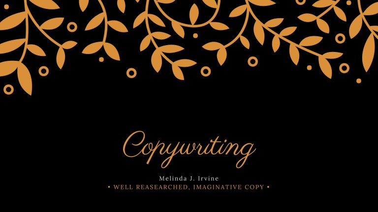 website copywriting services of Melinda J. Irvine