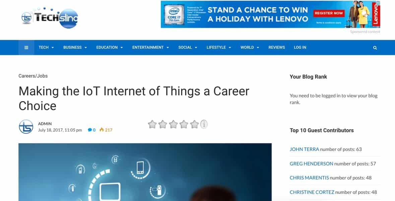 career choice IoT - Melinda J  Irvine