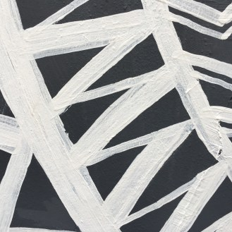Black and white abstract mural