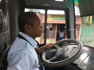 bus driver in Capiz, Philippines