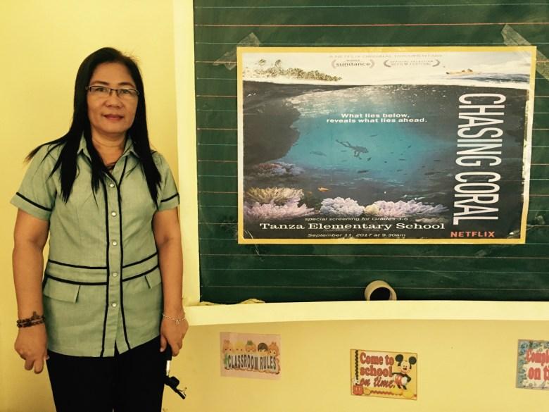 Ma'am Frecie, principal of Tanza Elementary School