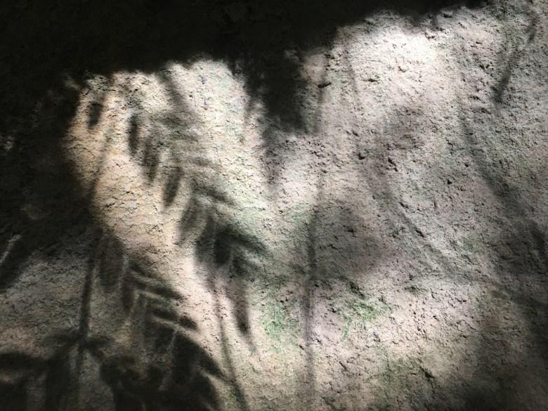 shadows on granite rock