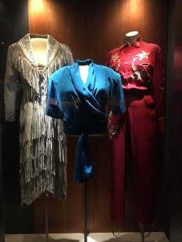 costume display of the McKean Sisters at the Slim Dustry Centre