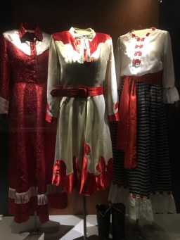 costume display of the McKean Sisters at the Slim Dustry Centre2