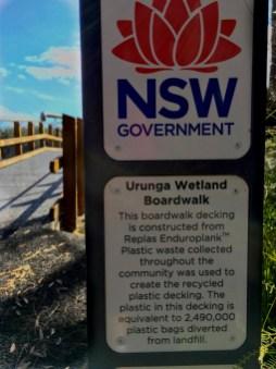 interpretive sign urunga boardwalk