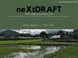 neXtDRAFT an eZine by Melinda J. Irvine Issue 5.