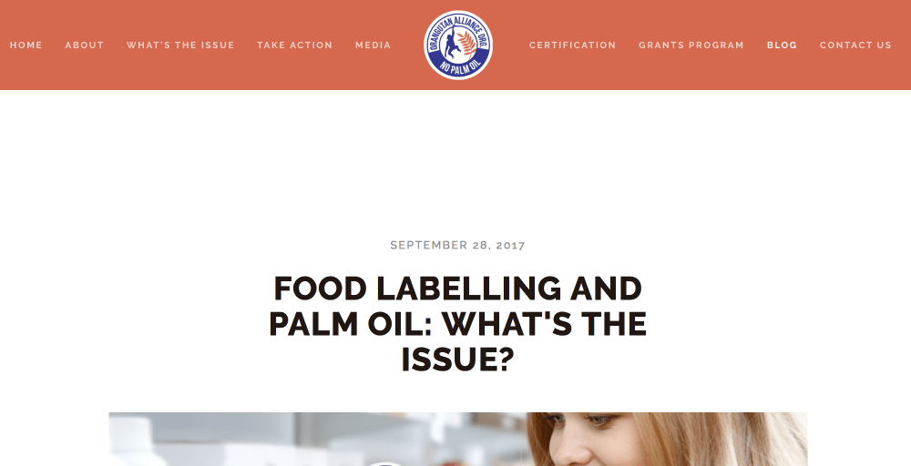 food labelling and palm oil