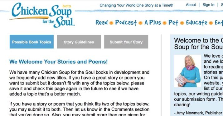 get paid to write your personal story for chicken soup for the soul