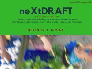 neXtDRAFT an eZine by Melinda J. Irvine Issue 18.