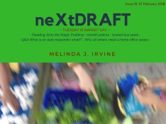 neXtDRAFT an eZine by Melinda J. Irvine Issue 18.
