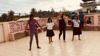dancing with the children on my birhtday