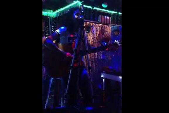 melinda j. irvine performing at the bamboo bar