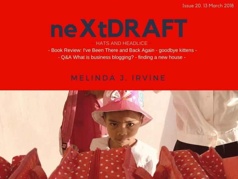 neXtDRAFT an eZine by Melinda J. Irvine Issue 20.