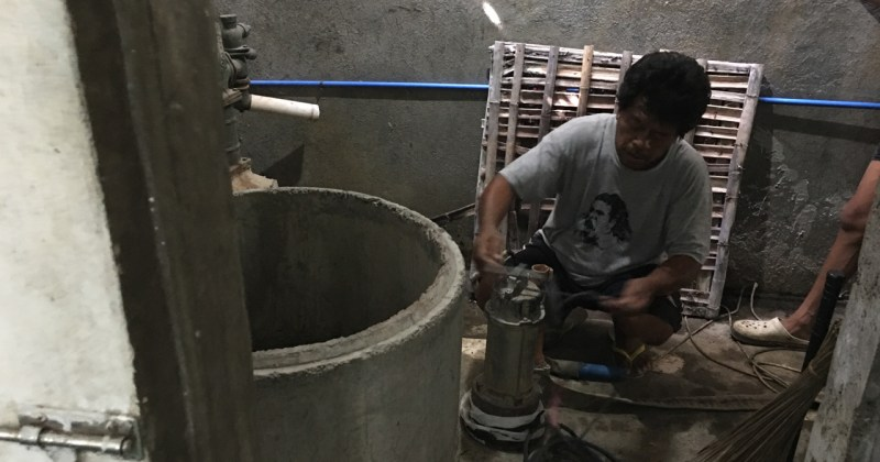 cleaning the deep well