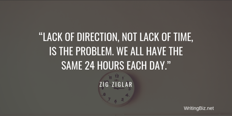 quote by zig ziglar about time management