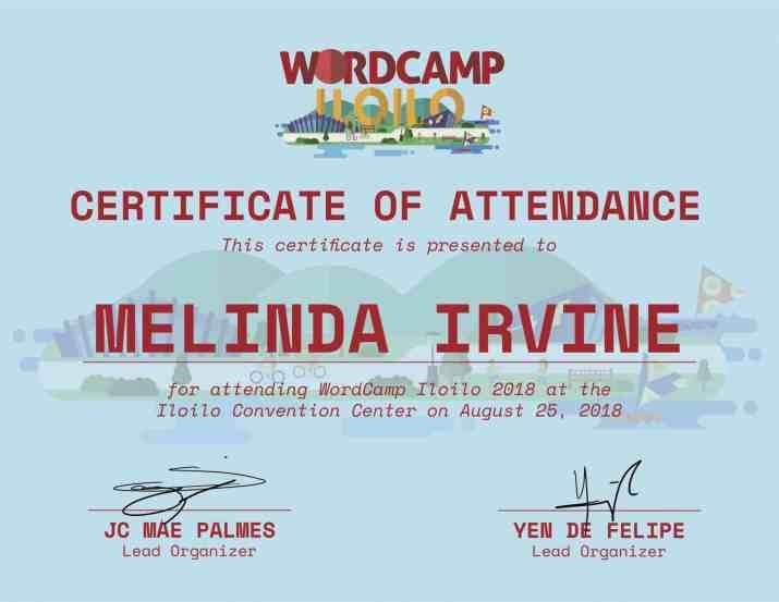 Melinda Irvine wordcamp iloilo 2018