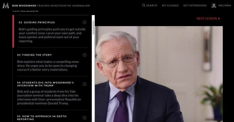 review of bob woodward's masterclass