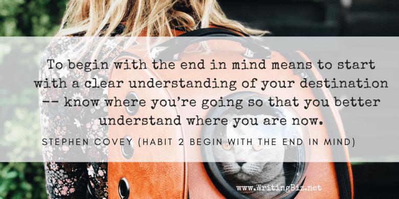 Melinda J. Irvine - freelance writer -- begin with the end in mind