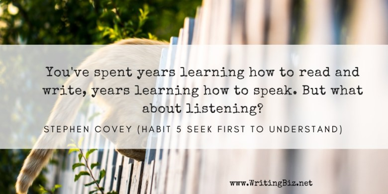 Melinda J. Irvine - freelance writer -- learning to listen