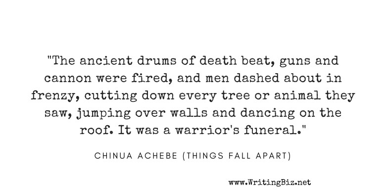 quote from 'things fall apart' by Chinua Achebe