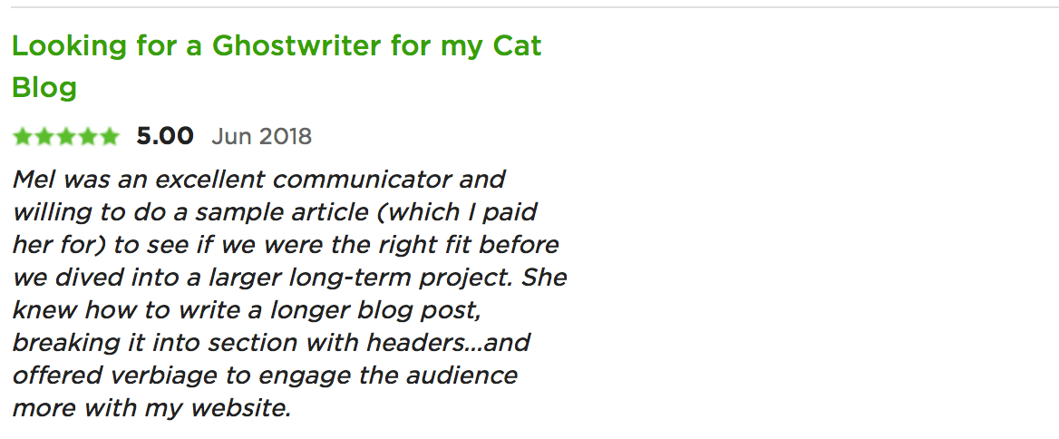 testimonial for melinda j. irvine (cat blog)