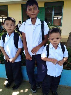 3 filipino boys on the first day of class 2019