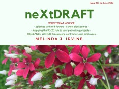 neXtDRAFT an eZine by Melinda J. Irvine Issue 58.