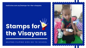 stamps for the visayans banner - little boy with Dengue
