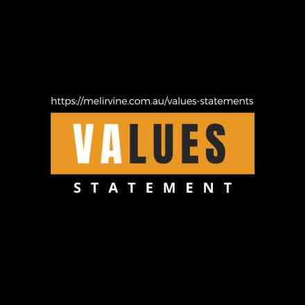 get a core values statement written @ Melinda J. Irvine