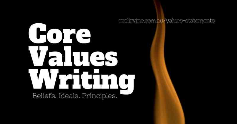 core values writing @ Melinda J. Irvine