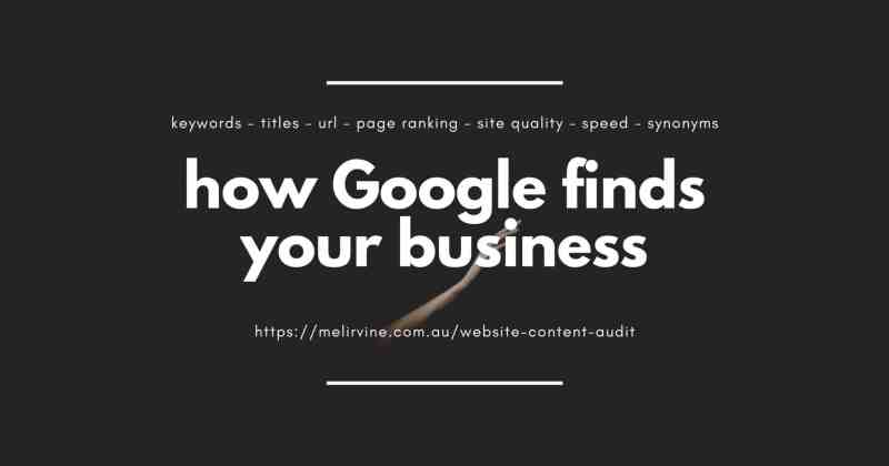 how Google finds your business by Melinda J. Irvine (1)