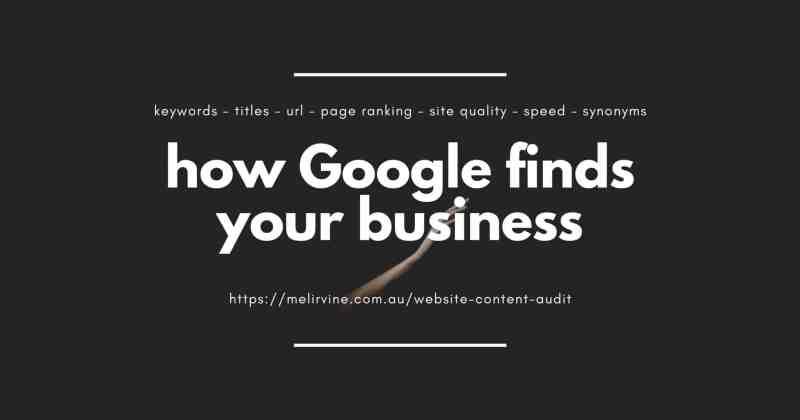how Google finds your business by Melinda J. Irvine (1)