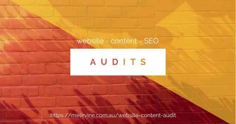 website content SEO audits @ Melinda J. Irvine