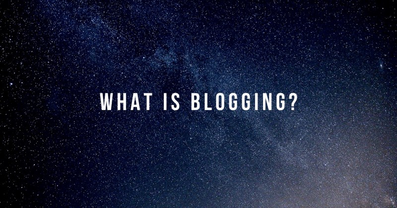 what is blogging by Melinda J. Irvine