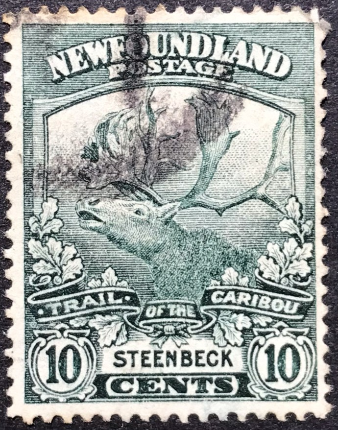 1919 Newfoundland Contingent 1914-18 (Caribou) 10c Green Used SG 137