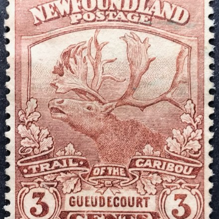 1919 Newfoundland Contingent 1914-18 (Caribou) 3c Brown MH SG 132