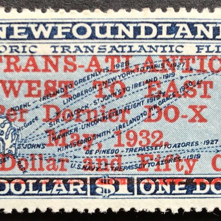 1932 Newfoundland Air Surcharge stamp1