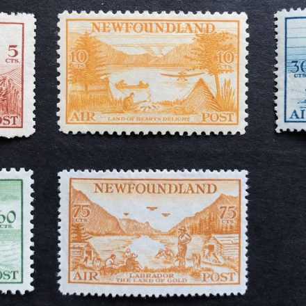 1933 Newfoundland Air Post Stamps Complete Set