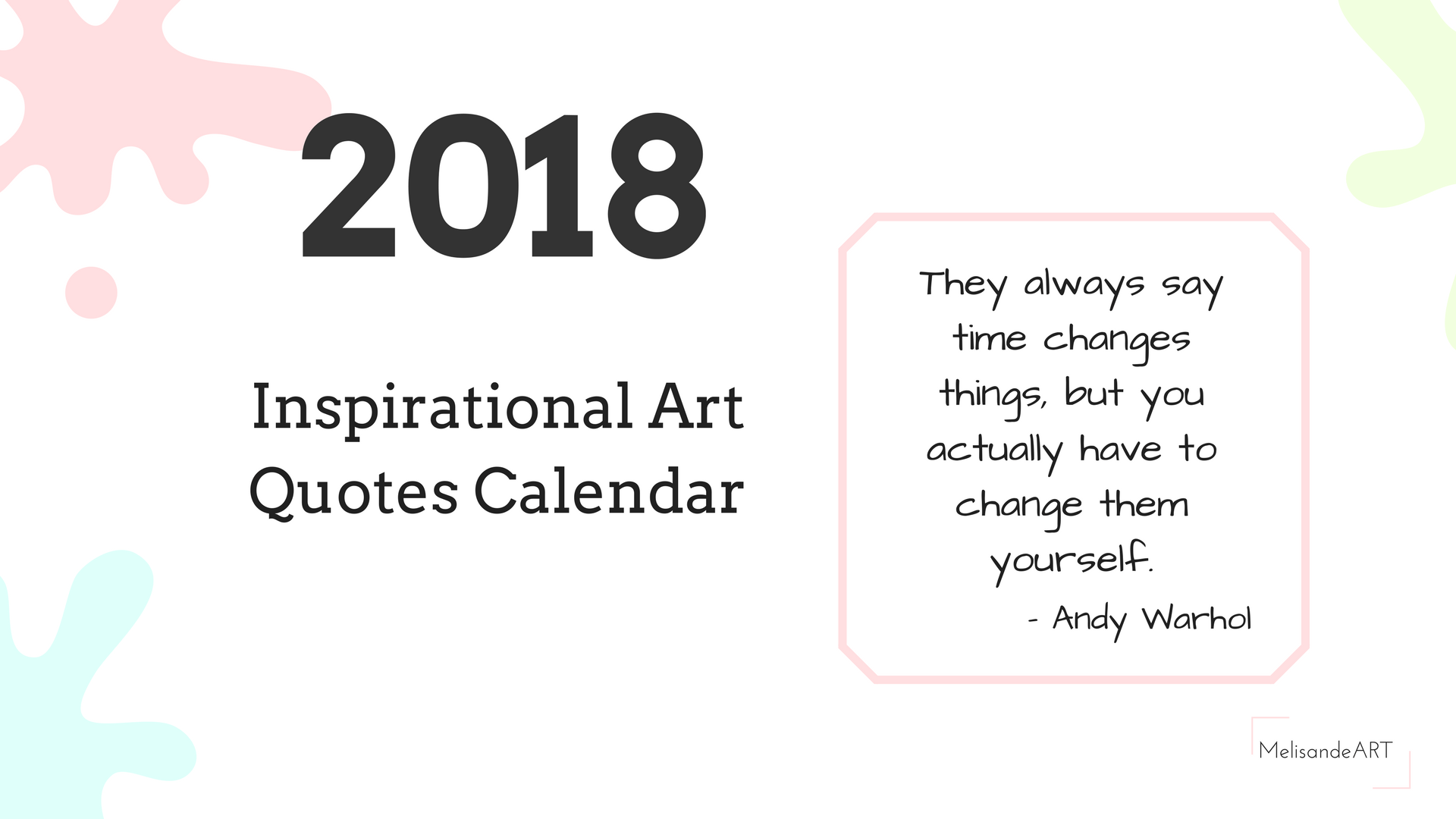 Quotes 2018 Calendar 2018 Inspirational Art Quotes Calendar  Melisandeart