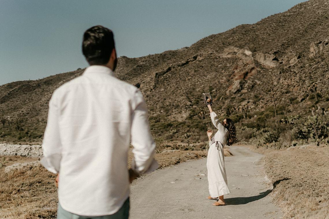 Sesión de fotos preboda en Achichilca, Puebla
