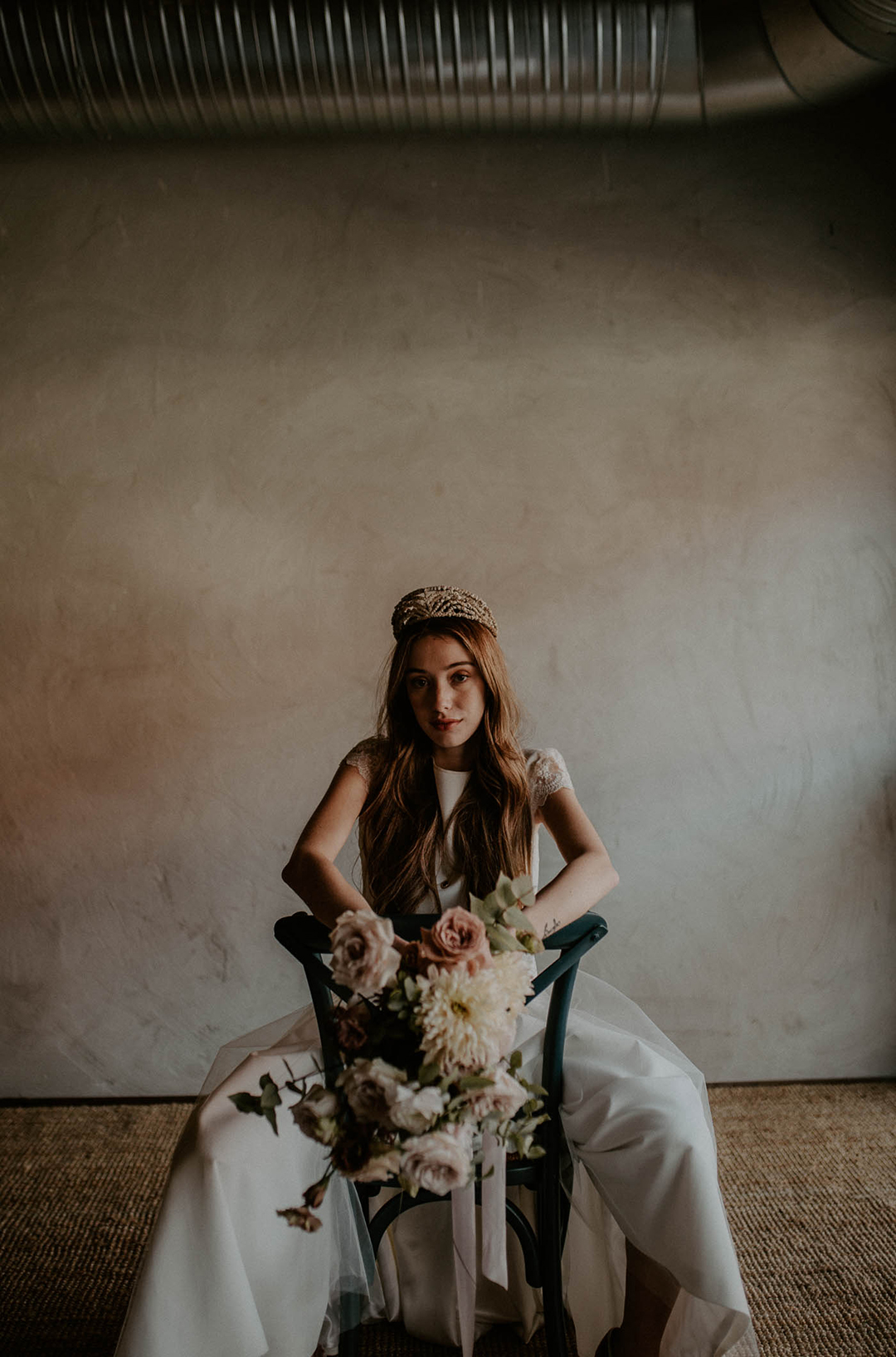 Sesión de fotos romántica y alternativa