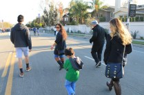 The fam making our way to the floats!