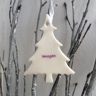 white christmas tree decorations