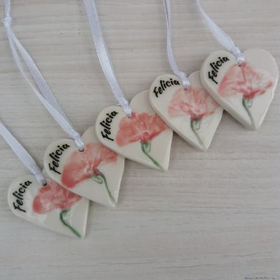 personalised heart decorations