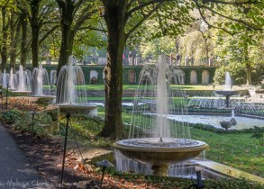 The Italian Water Gardens, at least partially in shade, were fun to photograph as the water patterns changed.