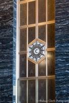 An elevator door.