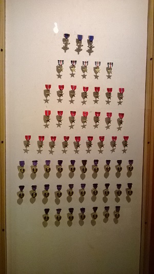Japanese American medals. Photo by M.C.