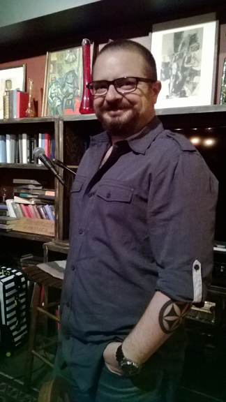 Author Nico Rosso at Gypsy Den Alt Cafe in Anaheim. Photo by M.C.