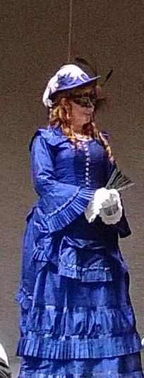 Phantom of the Opera Lady in blue