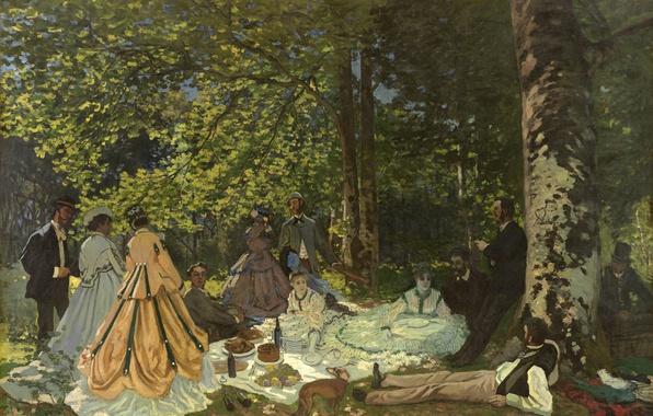 Dejeuner sur LHerbe Claude Monet